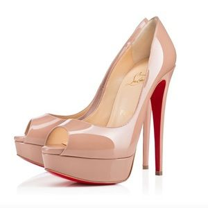 Authentic Christian Louboutin Lady Peep Heels